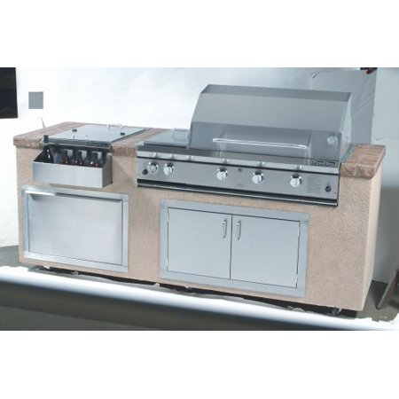 "Profire Grills 36"" Propane Restaurant Style Grill with Double Side Burner"