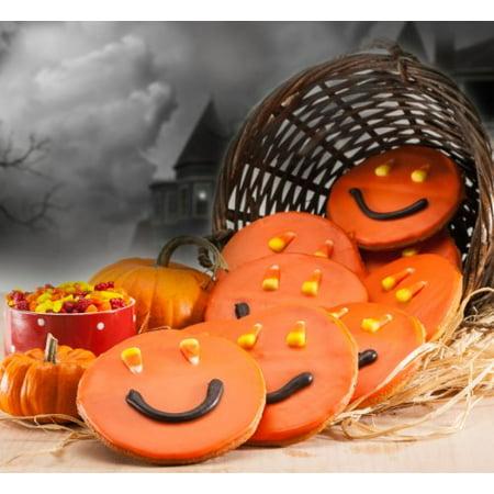 Tesco Halloween Cookies (Happy Halloween Orange Cookies-12)