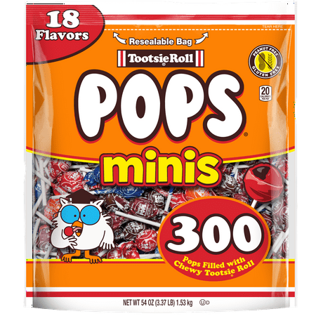 Tootsie Roll Pops Minis Lollipop, 54 Oz., 300 Count