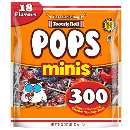 Ring Pops Bulk (Tootsie Roll Pops Minis Lollipop, 54 Oz., 300)