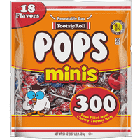 Tootsie Roll, Mini Tootsie Pops, 54 Oz
