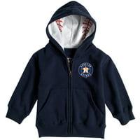 Houston Astros Soft as a Grape Toddler Baseball  Print Full-Zip Hoodie - Navy
