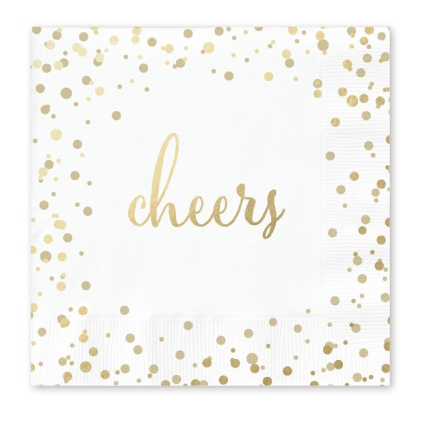 Way To Celebrate Gold Cheers Cocktail Napkins 50 Count Walmart Com