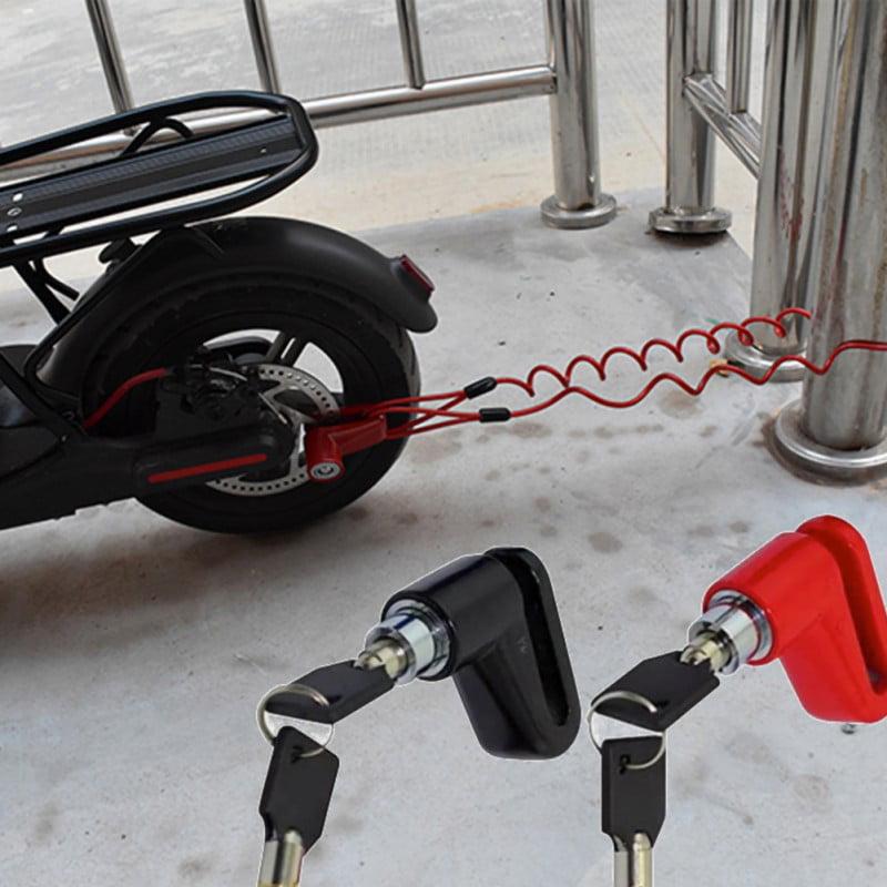 M365 Anti-Theft Wheels Disc Brakes Lock/& Steel Wire Electric Scooter Wheels Lock