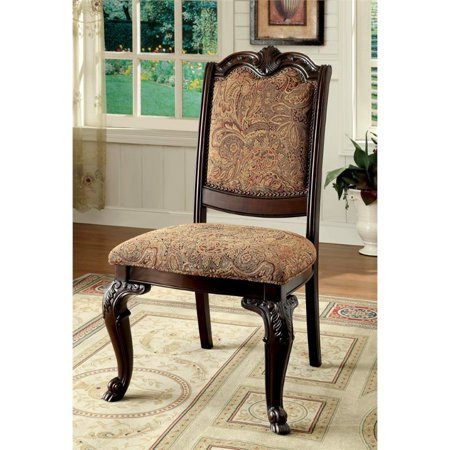 Furniture of America Ramsaran Dining Chair in Brown Cherry (Set of 2)