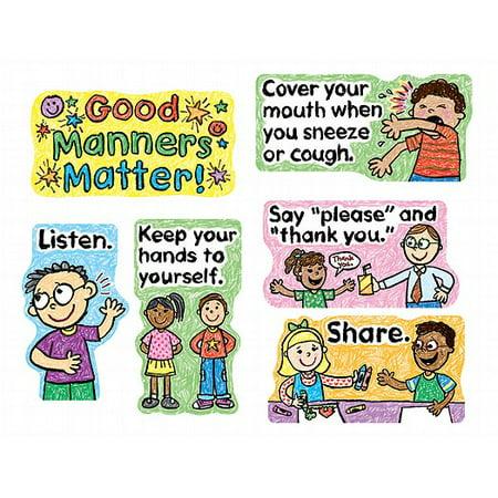 Good Manners Bulletin Board - Carson Dellosa Good Manners Matter Bulletin Board Set (110109)