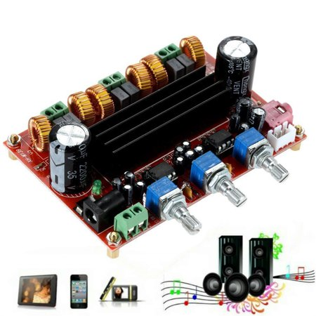 Digital Power Amplifier - TPA3116D2 Sound Quality Power Amplifier Board 50W *2 +100W 2.1 Channel Digital Subwoofer Power Amplifier Board DC12V-24V