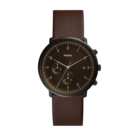 - Fossil Men's Chase Timer Whiskey Leather Watch (Style: FS5485)