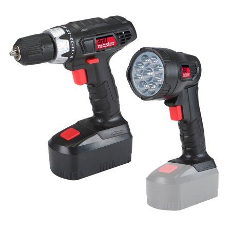 18 Volt 3/8 in. Cordless Drill/Driver And Flashlight Kit (18 Volt Battery Drill Master)