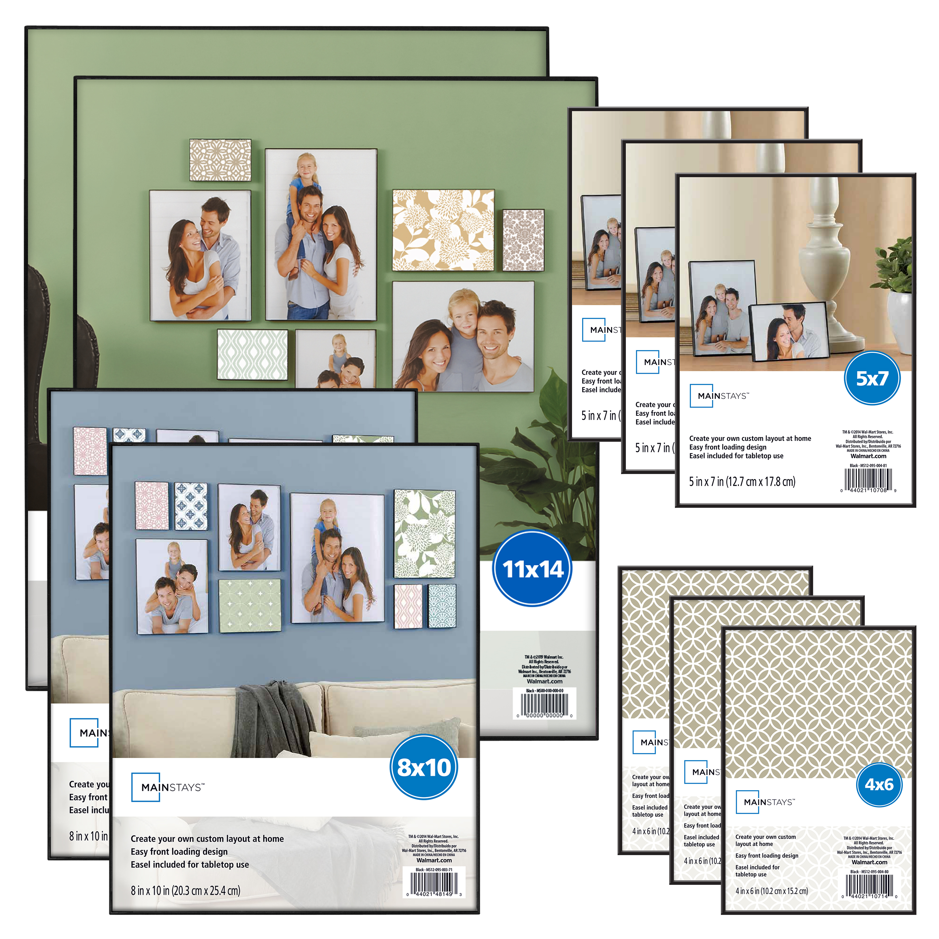 Mainstays 10-Piece Format Picture Frame Set