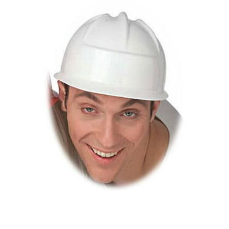 White Construction Crew Costume Hard Hat Toy Helmet