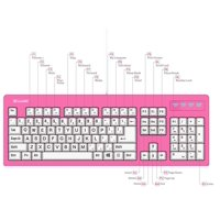 vitalasc pink 104-key large print usb wire spill-resistant keyboard 2018