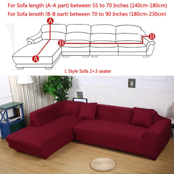 All Cover Sectional Sofa L Shape 2pcs