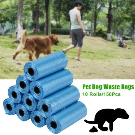 10 Rolls 150Pcs Plastic Pet Dog Waste Bags 33 22cm Durable Trash Clean