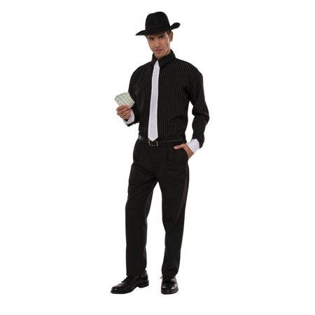 Halloween Gangster Adult Costume - Gangster Halloween Costumes For Guys