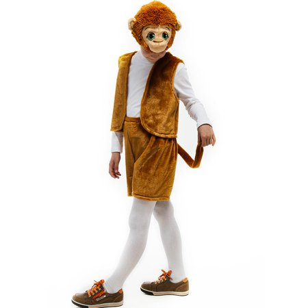 Monkey Jungle Animal size XS Boys Plush Costume Dress-Up Play Kids 5 O'Reet ()