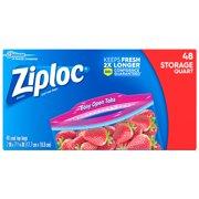 Ziploc, Storage Bags, Quart, 48 ct