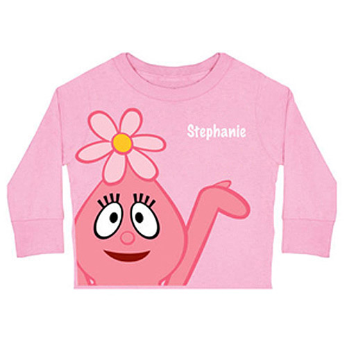 Personalized Yo Gabba Gabba! Foofa Toddler Girl Long-Sleeve Tee