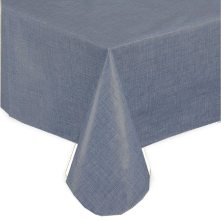 Splash Collection by Ben&Jonah Solid Color Vinyl Tablecloth With Polyester Flannel Backing, Size (Solid Color Polyester)
