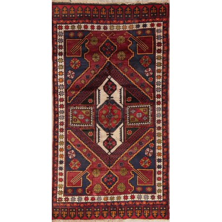 Rugsource Handmade Antique Geometric 5x7 Caucasian Russian Oriental Area (Russian Antique)