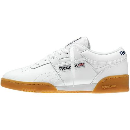 a98fa8bcf7e Mens Reebok Workout Low White Gum Brown 63978 - Walmart.com