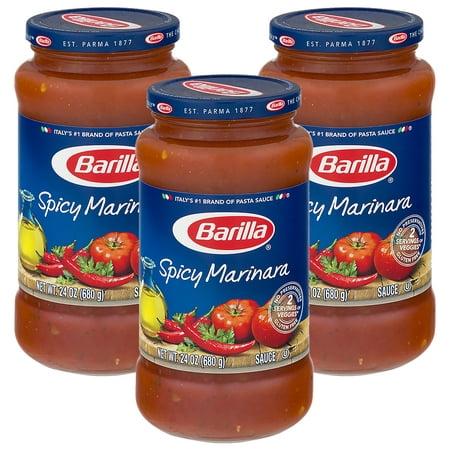 - (3 Pack) Barilla® Spicy Marinara Tomato Pasta Sauce, 24 oz Jar