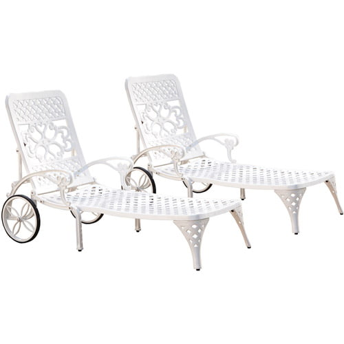 Home Styles Biscayne Chaise Lounge Chairs, Set of 2 by Home Styles