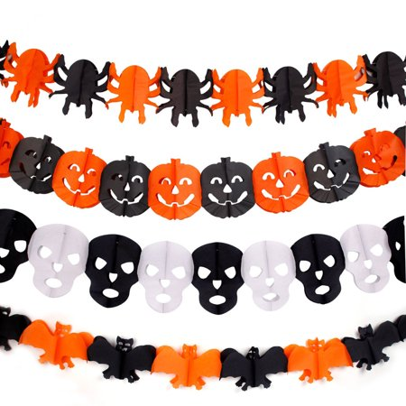 Halloween Decoraties Garland Halloween Party Papier Keten Gors Specter