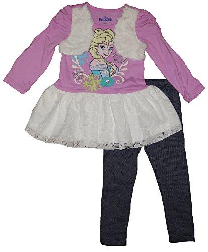 Girls Frozen Long Sleeve Tutu Skirt Leggings Set (2T) W11