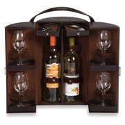 Picnic Plus Daventry Leatherette Wine Travel Case