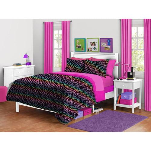 your zone zebra plush Reversible Comforter set