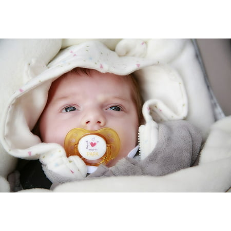 Canvas Print Face Eyes Child Baby Bed Birth Small Child Sleep Stretched Canvas 10 x