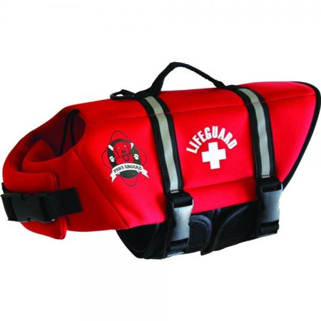 Fido Pet Products Paws Ioard Neoprene Doggy Life Jacket, Medium, Red