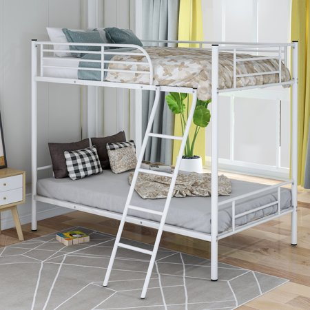 Harper&Bright Designs Twin Over Twin Metal Bunk Bed, (Best Bunk Bed Designs)