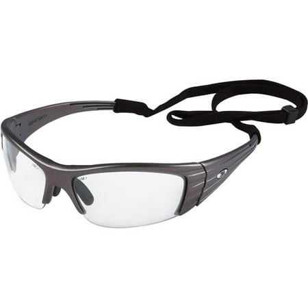 3M Fuel X2 High Performance Safety Eyewear, Gun Metal Gray frame, Clear lenses, 4/case