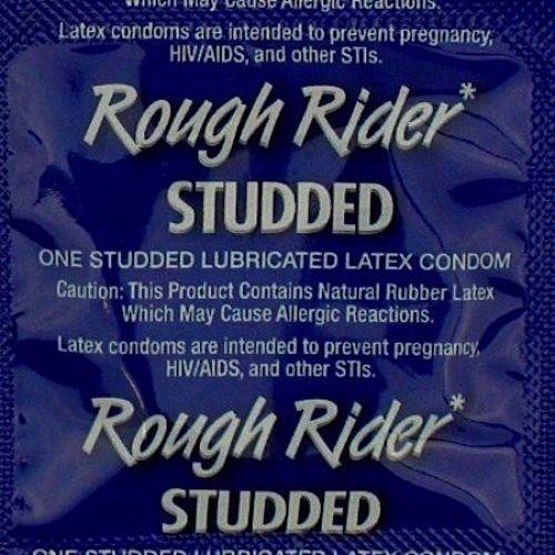 Lifestyle ROUGH RIDER STUDDED CONDOMS Bulk of 48