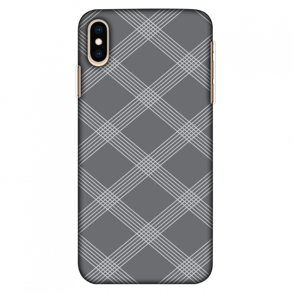 iPhone Xs Max Case, Ultra Slim Case iPhone Xs Max Handcrafted Printed Hard Shell Back Protective Cover Designer iPhone Xs Max Case (2018) - Carbon Fibre Redux Stone Gray 5