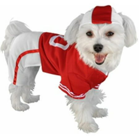 Red Football Player Dog Costume~Large 16-20 Inches / Red