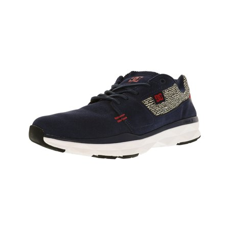 Dc Men's Player Se Navy/Grey Ankle-High Leather Fashion Sneaker - - Mens Player Series Leather