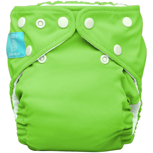 Charlie Banana 2-in-1 Reusable Diapering System, 1 Diaper and 2 Inserts, (One Size), Green