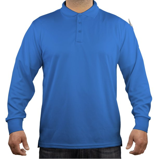 First Class Tactical Performance Long Sleeve Polo Shirt - Royal Blue - Small