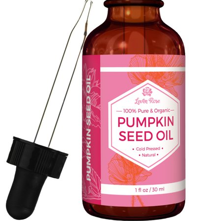 Pumpkin Seed Oil by Leven Rose - 100% Organic, Natural for Hair Growth And Moisturizing Dry Skin - 1 oz - External Use (For External Use Only Not For Ophthalmic Use)