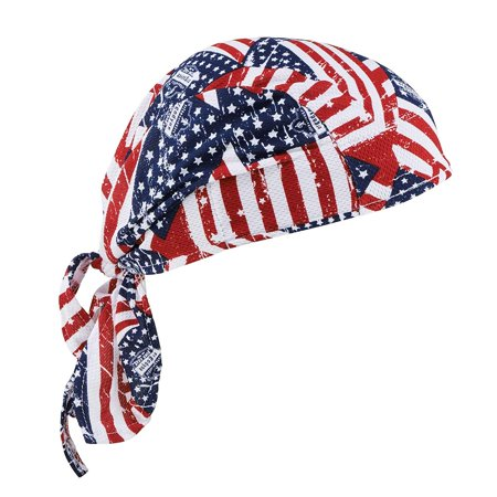 Away Moisture (Chill-Its 6615 Absorptive Moisture-Wicking Dew Rag, Stars and Stripes, QUICK-DRYING Made with moisture management fabric that wicks away sweat and dries fast By Ergodyne )