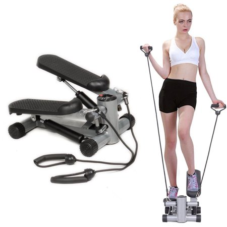 - Zimtown Air Climber Mini Aerobic Stair Stepper, with Resistance Bands, Fitness Cardio Equipment, Home Gym Exercise Machine