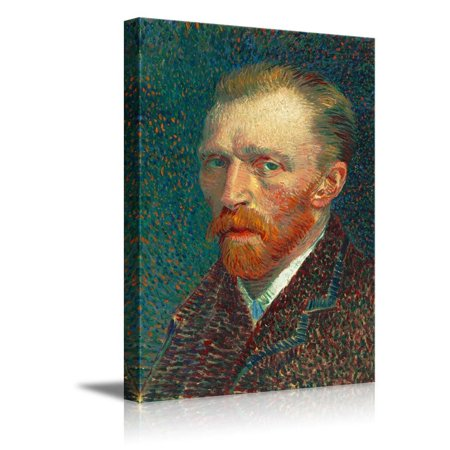 wall26 - Self-Portrait by Vincent Van Gogh - Canvas Print Wall Art Famous Oil Painting Reproduction - 32