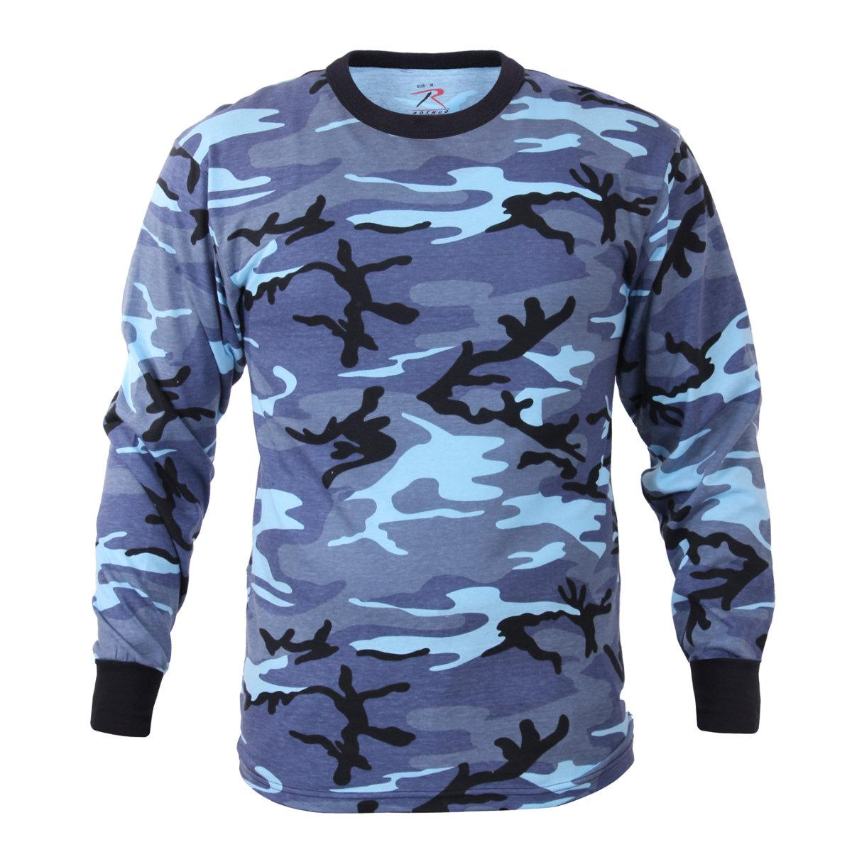 9f3141ff3056 Rothco - Long Sleeve Camouflage T-Shirt, Sky Blue Camo - Walmart.com
