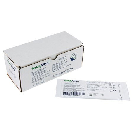 Welch Allyn 45008-0000 ECG Resting Tab Electrodes - 100/PK - Box of 10 - (1000 Total) Clear Tape Ecg Electrode