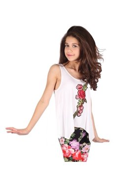 5c40b901762797 Product Image Lori Jane Girls White Red Eye-Catchy Flower Detail Trendy  Tank Top. Lori   Jane