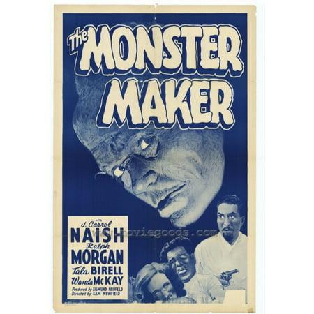 The Monster Maker Movie Poster Print  27 X 40