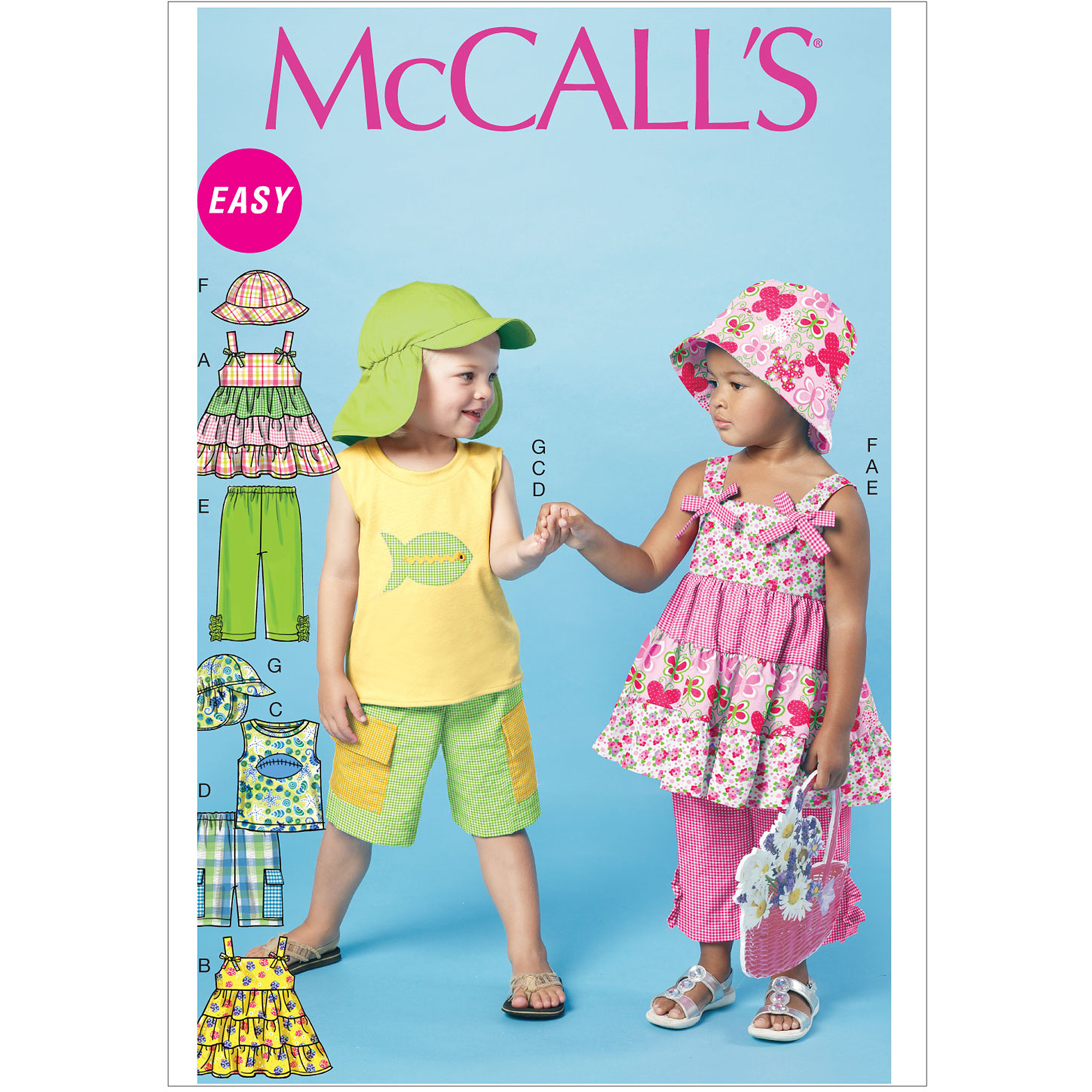 Toddlers'/Children's Tops, Shorts, Pants and Hats-CF (4-5-6)